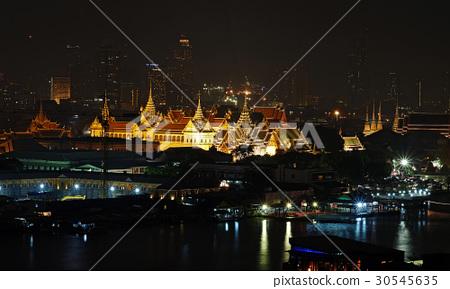 Grand palace night at  bangkok, Thailand 30545635