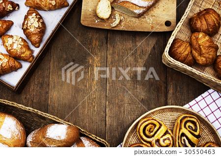 Variation of homemade baked pastry cuisine 30550463