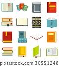 set, books, icon 30551248