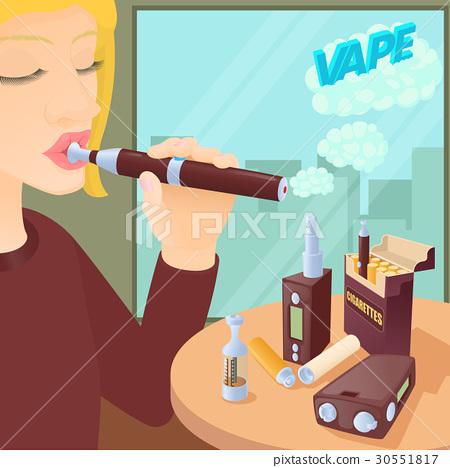 E-cigarettes concept, cartoon style 30551817