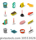 cleaning, icon, set 30553026