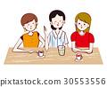 여성 카페에서 수다 인물 일러스트 30553556