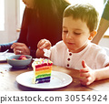 Photo Gradient Style with Eating Rainbow Cake Birthday Delicious 30554924