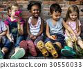 Group of kindergarten kids little farmers learning gardening 30556033