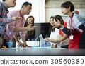 a portrait of a group discussion 30560389