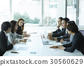 A team is discussing new business ideas at a meeting in office. 30560629