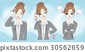 cute cartoon businesswoman 30562659