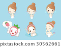 cartoon skincare woman 30562661