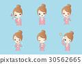 cute cartoon businesswoman 30562665