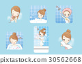 woman is taking bath 30562668