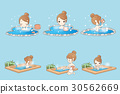 woman with hot spring 30562669