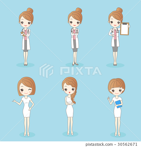 woman doctor and nurse 30562671