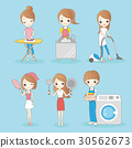 housewife do housework 30562673
