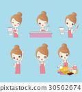 wwoman with dessert 30562674