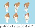 cartoon skincare woman 30562677