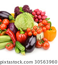 vegetables isolated on white background 30563960