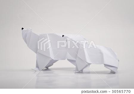 Folienbogen - 60x60 cm - Origami Polar Bear – creatisto   318x450