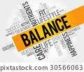 BALANCE word cloud, fitness 30566063
