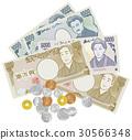 金錢硬幣鈔票圖像例證 30566348