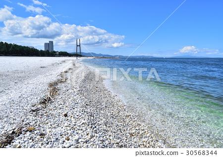 從Tajiri天空橋樑的看法從大理石海灘 30568344