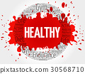 HEALTHY circle stamp word cloud, fitness 30568710