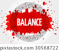 BALANCE circle stamp word cloud 30568722