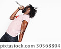 young handsome african american boy singing 30568804