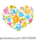 heart, flower, bloom 30570008