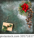 Christmas decoration red flowers gifts vintage  30571637