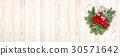 Christmas decoration Pine branches poinsettia flow 30571642