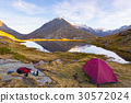 Camping with tent on the Alps 30572024