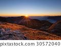 Mountain range at sunset 30572040