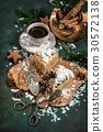 Honey cake Christmas decoration coffee sweet food 30572138
