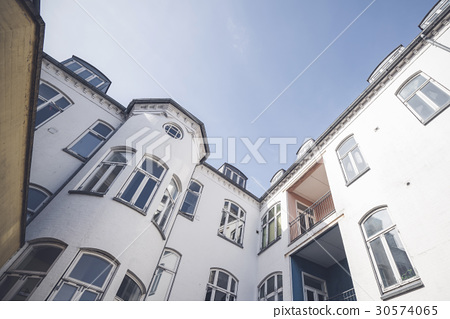 Apartment building in white color 30574065