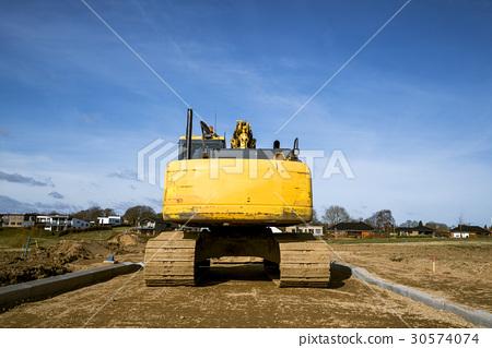 Rear end of an excavator machine 30574074