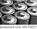 closeup of electric batteries 30574657