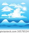 Clouds on blue sky 30576534