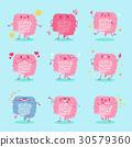 cute cartoon intestine 30579360