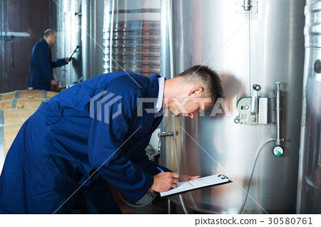 young man expert in winery 30580761
