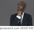 African Descent Man Thinking Concept 30587345