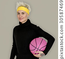 Woman Smiling Happiness Basketball Sport Portrait 30587469