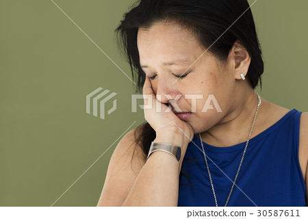 Sadness woman is very depressing 30587611