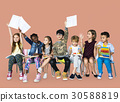 Group of students educated child development 30588819