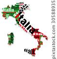 แผนที่,อิตาเลียน,ธงชาติ 30588935