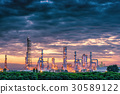 Petrochemical plant on twilight scene. 30589122