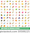 food, drinks, icons 30589225