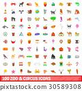 100 動物園 馬戲團 30589308