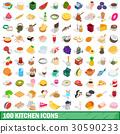 100, kitchen, icons 30590233