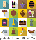 wine, icon, set 30590257