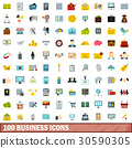 100, business, icons 30590305